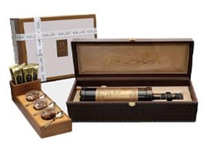 VIP Leather Box Filled With Emirati Sidr Honey, Emirati Samar and Honey & Nuts